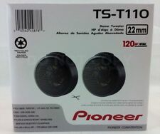 """PIONEER TS-T110 7/8"""" CAR AUDIO HARD DOME TWEETERS (PAIR) NEW"""
