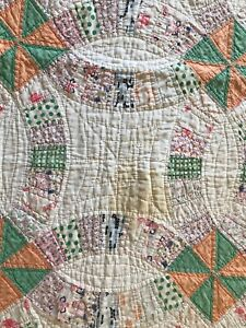 DOUBLE WEDDING RING CUTTER QUILT