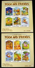 ANTIGUA & BARBUDA DISNEY WINNIE THE POOH STAMPS SHEETS 1998 MNH TIGGER PIGLET