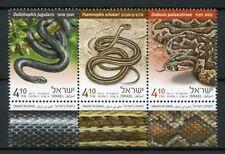 Israel 2017 MNH Snakes Large Whip Snake 3v Set Reptiles Stamps