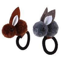 2pcs cravate cheveux lapin élastique queue de cheval cheveux anneau cordes