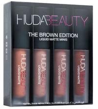 New Brand HUDA BEAUTY Matte Mini Liquid Lipstick Set 4 pcs -5 Shade UK Seller