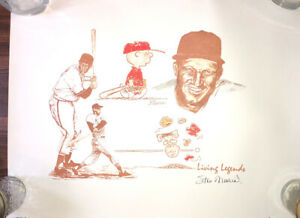 """Stan Musial & Charlie Brown AUTOGRAPHED """"Living Legend"""" - PSA Authenticated"""