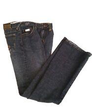 Baby PhatWomen'sJeans Size 6 Regular Boot Cut Dark Blue Denim Light Distress