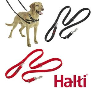 Halti Training Lead Double Ended Dog Puppy Leash Black Red Small Large