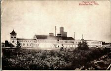Early 1900'S. Paper Mill. Rhinelander, Wisconsin. Postcard t3