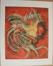 D'ANTY Henri - Lithographie signée numérotée le coq lithograph ***