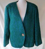 Vintage Freedom Wear Mohair Wool Blend Jacket Coat Sz 42 Large Made in Ireland