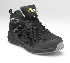 JCB Hydradig Essential Lightweight Safety Work Boots Black (Sizes 3-12)