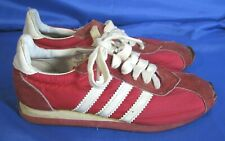Vintage Jcpenney Sanitized Sneakers Shoes Red w/Three White Stripes Suede 5.5 B