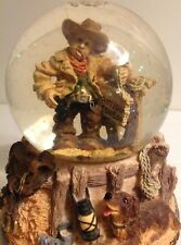 1997 Antique Cowboy Been There Done That Bowlegged Water globe Dome Vintage Rare