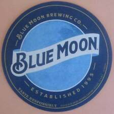 BLUE MOON, TASTE RESPONSIBLY Beer COASTER, Mat, COLORADO 2018 issue
