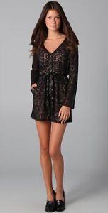MARC JACOBS Black Textured Lace Romper Jumpsuit NWT $378 Sz 2