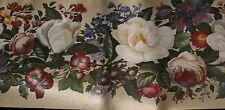 """2 Rolls Beige Crackle Leafy Floral Wallpaper Border New Prepasted Vinyl 5ydx9"""""""