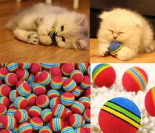 6Pcs Pet Supplies Rainbow Ball Kitten Activity Toys Soft Foam Colorful