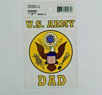 "U.S. Army DAD 3""x4.25"" Car Decal Window Sticker Proud Military Parent"