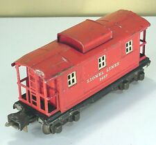 LIONEL LINES PRE WAR TINPLATE No. 2657 RED CABOOSE
