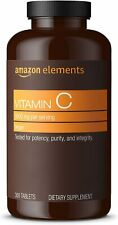 Amazon Elements Vitamin C 1000 mg Dietary Supplement - 300 Tablet Exp. 5/2022