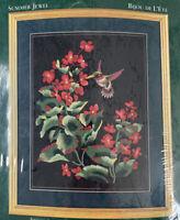 Elsa Williams Crewel Embroidery Stitchery Kit 00452 Summer Jewel Hummingbird New
