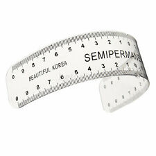Reusable Semi Permanent Eyebrow Stencil Makeup Microblading Measure Tattoo Ruler