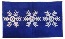 Hd Designs Holiday Blue Snowflake Bath Rug Skid Resistant Accent Mat 20x34