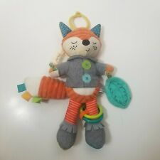 Infantino Playtime Fox Plush Toy Rattle Crinkle Teether