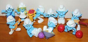 10 x The Smurfs McDonalds Happy Meal Toys 2011 Smurfette Gutsy Hefty ++
