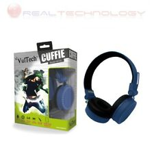 Cuffie Headphones blu Con Microfono Regolatore Volume Super-Bass Vultech HD-03b