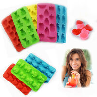 Silicone Ice Cube Tray Mould Fancy Plastic FUNNY Shape Ice Jelly Maker Tray SC