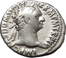 DOMITIAN son of Vespasian Silver Ancient Roman Coin Athena Minerva i53285