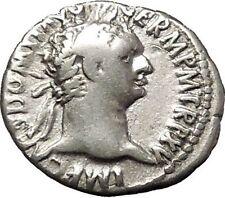 DOMITIAN son of Vespasian Silver Ancient Roman Coin Athena Minerva i53285