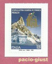 Italia 2020  SCUOLA ALPINA GUARDIA DI FINANZA PREDAZZO Francobollo singolo