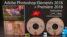 Adobe Photoshop Elements 2018 & Premiere 2018 Vollversion Box + DVD Win/Mac NEU