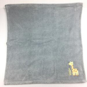 Circo Yellow Giraffe Baby Blanket Gray w/ Green Leaves 30x30 Fleece Target 2015
