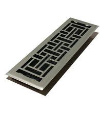 "Satin Nickel 4"" X 14"" Contemporary Floor Register Cover- Decor Grates"