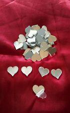 50 Acrylic mirrored glass 2cm hearts mirror shapes embellishments scrapbook