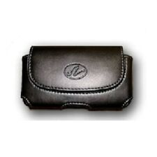 Horizontal Leather Clip Side Holster Case Pouch For At&T Alcatel Cingular Flip 2