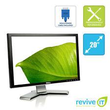 """Dell 2007WFP 20"""" Widescreen 1680x1050 16:10 LCD Monitor VGA DVI USB Grade B"""