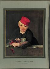 L'enfant aux cerises par Édouard Manet peintre impressionniste ILLUSTRATION 1932