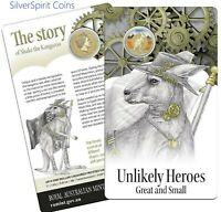 2015 AUSTRALIAN UNLIKELY HEROES Shake the Kangaroo Coin on Card