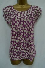 NEW WHITE STUFF TOP RED PINK PURPLE ABSTRACT FRUIT PRINT SUMMER 8 - 18