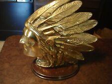 brass indian head figerine