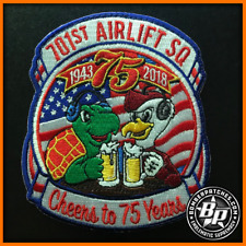 701st Airlift Squadron 75th Anniversary Patch C-17 Globemaster II Charleston
