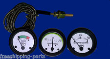 Minneapolis Moline Tractor Temperature  Oil Pressure  Amp Gauge Black Bezel