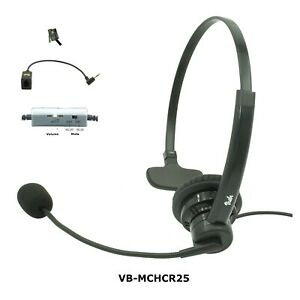 Cisco Phone headset, Noise Canceling Rotatable Microphone, Volume & Mute, New