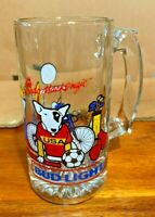 Vintage Spuds MacKenzie Bud Light Beer Glass Mug  1988 Team USA Budweiser