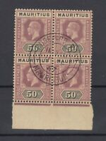 Mauritius KGV 1913/22 50c Block Of 4 SG200 Superb CDS J7226