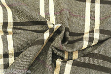 C109 WOOL&CASHMERE DELUX LARGE PLAID CHECK OATMEAL/BROWN/AMESTHYST MADE IN ITALY