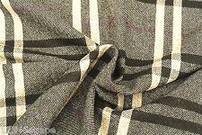 C109 wool&cashmere Delux grandi plaid controllo Avena / Marrone / amesthyst MADE IN ITALY