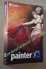 Corel Painter X3 Windows Macintosh Vollversion deutsch francais DVD -MwSt.